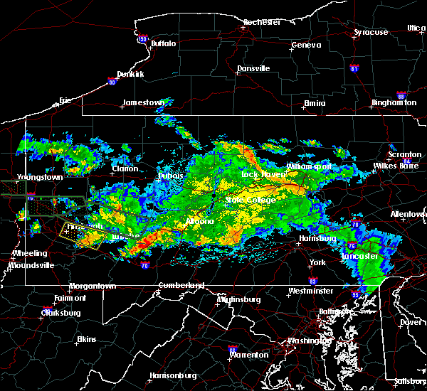 Radar Image for Severe Thunderstorms near Dunlo, PA at 5/28/2019 10:40 PM EDT