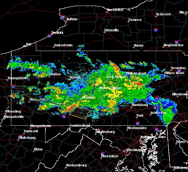 Radar Image for Severe Thunderstorms near Pleasantville, PA at 5/28/2019 10:53 PM EDT