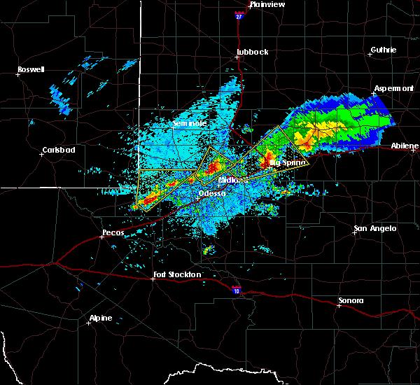 Radar Image for Severe Thunderstorms near Goldsmith, TX at 5/29/2019 3:59 AM CDT