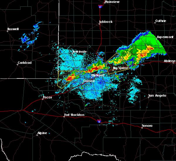 Radar Image for Severe Thunderstorms near Goldsmith, TX at 5/29/2019 4:34 AM CDT