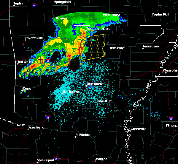 Radar Image for Severe Thunderstorms near Melbourne, AR at 5/29/2019 4:41 AM CDT