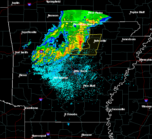 Radar Image for Severe Thunderstorms near Melbourne, AR at 5/29/2019 5:16 AM CDT
