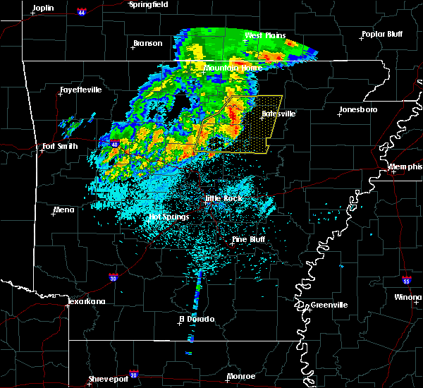 Radar Image for Severe Thunderstorms near Melbourne, AR at 5/29/2019 5:31 AM CDT