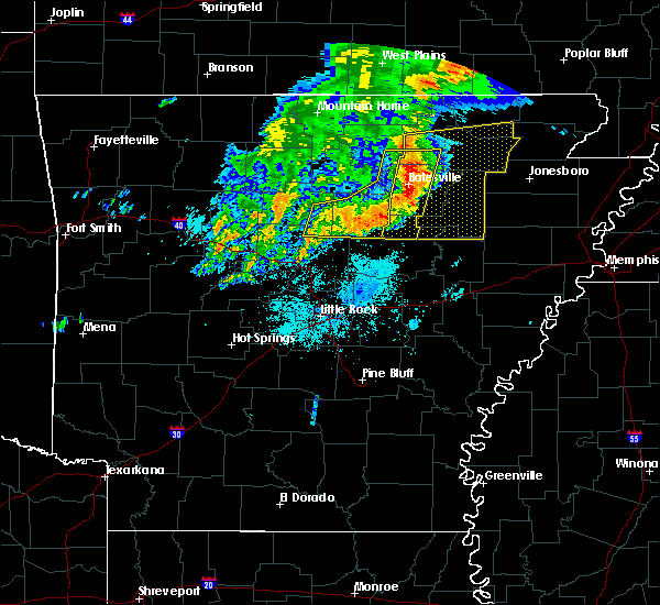 Radar Image for Severe Thunderstorms near Newport, AR at 5/29/2019 5:59 AM CDT