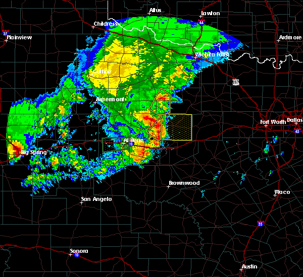 Radar Image for Severe Thunderstorms near Breckenridge, TX at 5/29/2019 8:36 AM CDT