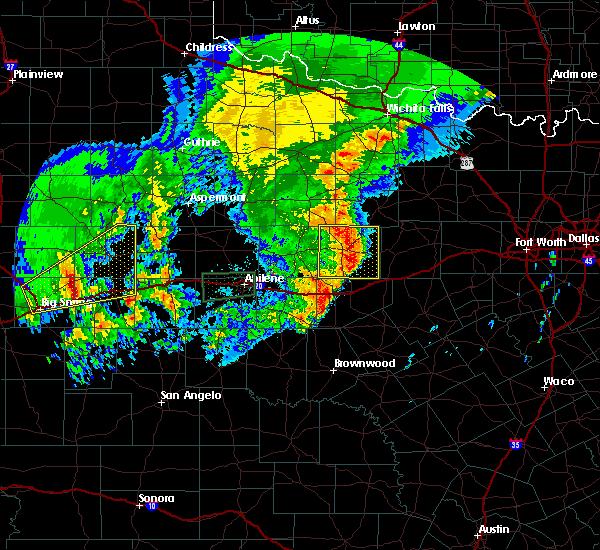 Radar Image for Severe Thunderstorms near Breckenridge, TX at 5/29/2019 9:03 AM CDT