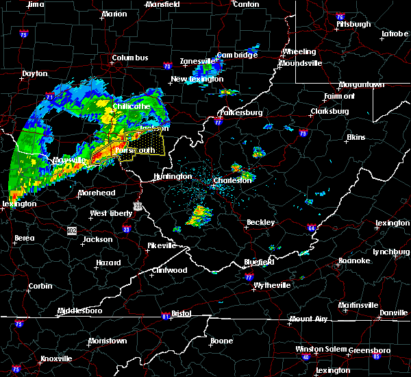 Radar Image for Severe Thunderstorms near Jackson, OH at 5/29/2019 11:26 AM EDT
