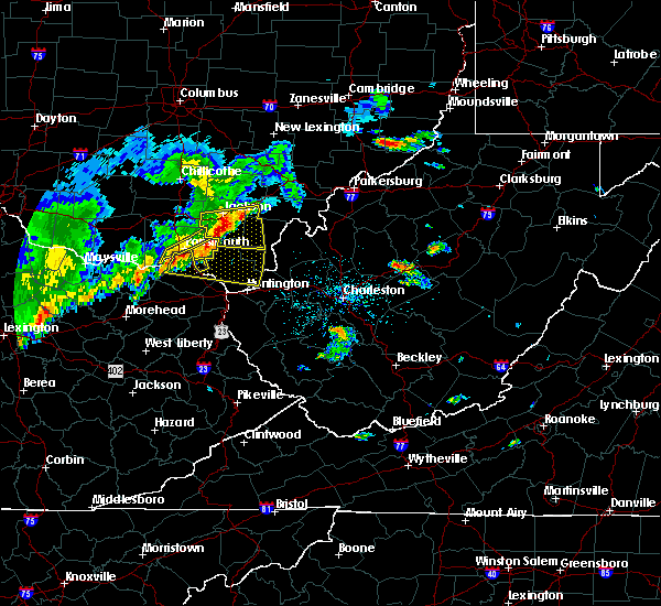 Radar Image for Severe Thunderstorms near Greenup, KY at 5/29/2019 11:42 AM EDT