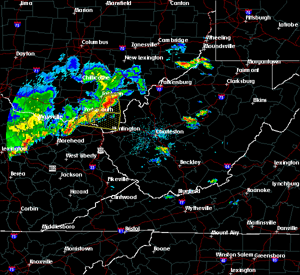Radar Image for Severe Thunderstorms near Wellston, OH at 5/29/2019 11:50 AM EDT