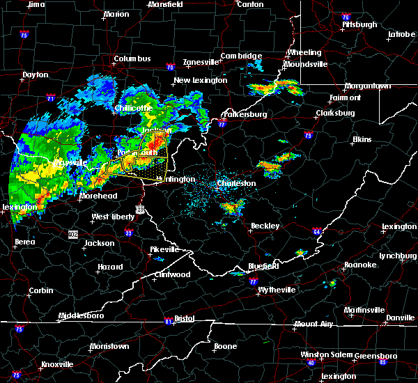 Radar Image for Severe Thunderstorms near Gallipolis, OH at 5/29/2019 12:00 PM EDT