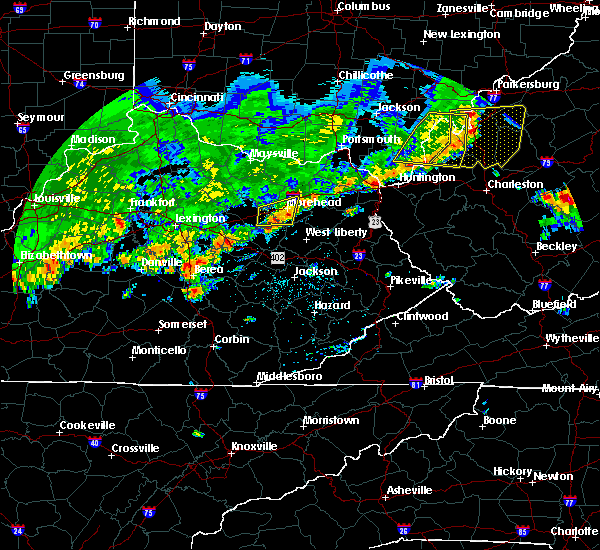 Radar Image for Severe Thunderstorms near Frenchburg, KY at 5/29/2019 12:43 PM EDT