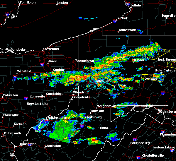 Radar Image for Severe Thunderstorms near Bradford Woods, PA at 5/29/2019 1:55 PM EDT