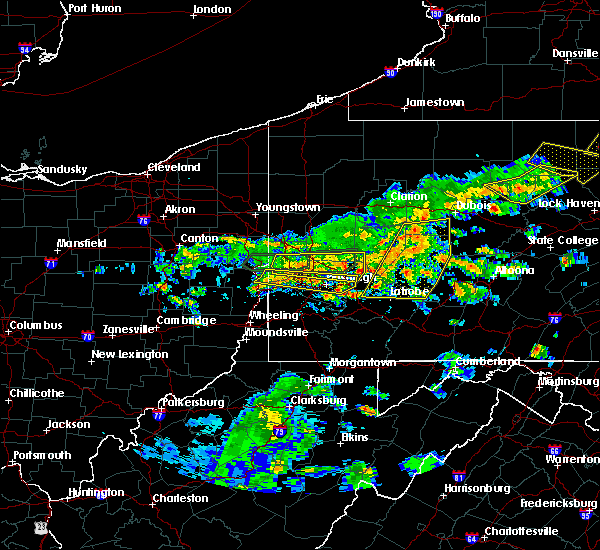 Radar Image for Severe Thunderstorms near Youngstown, PA at 5/29/2019 2:23 PM EDT