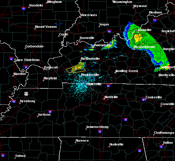 Radar Image for Severe Thunderstorms near Dawson Springs, KY at 5/29/2019 1:28 PM CDT