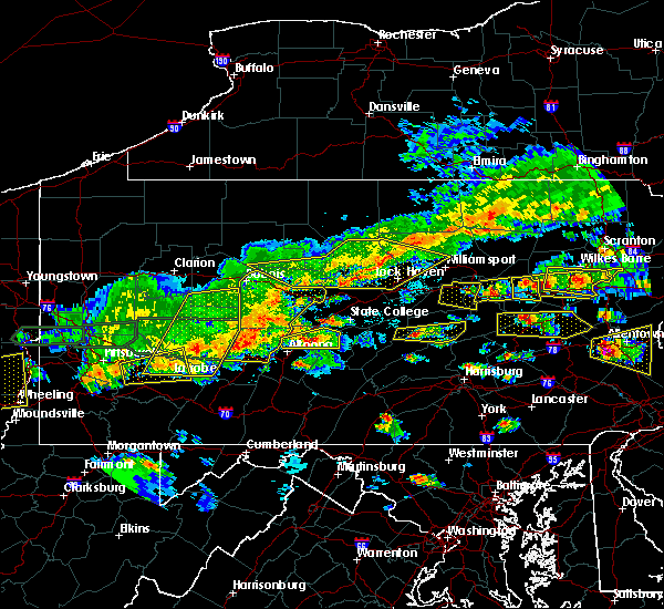 Radar Image for Severe Thunderstorms near Blanchard, PA at 5/29/2019 2:59 PM EDT