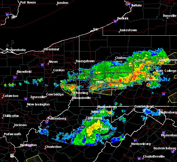 Radar Image for Severe Thunderstorms near Mount Pleasant, OH at 5/29/2019 3:00 PM EDT