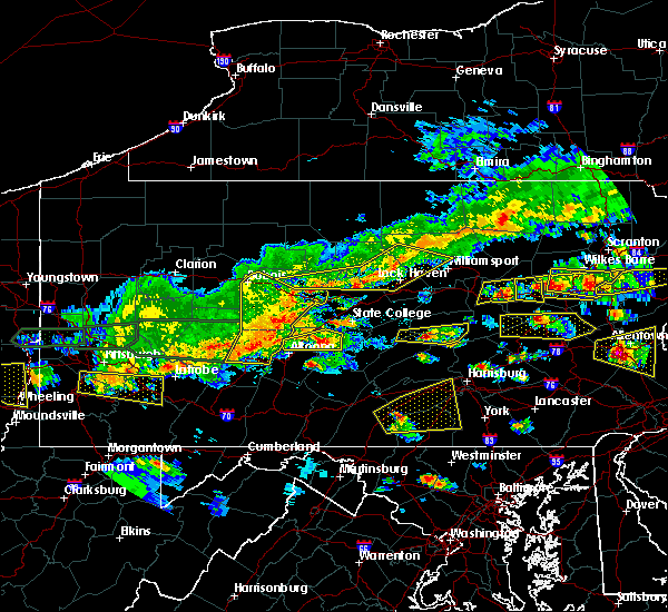 Radar Image for Severe Thunderstorms near Cherry Tree, PA at 5/29/2019 3:05 PM EDT
