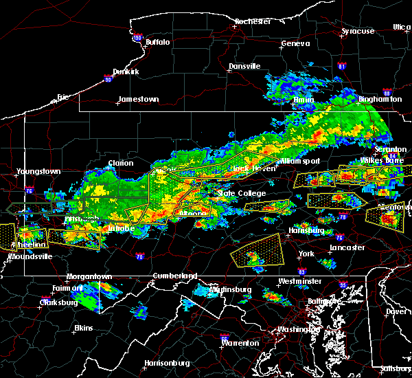 Radar Image for Severe Thunderstorms near Julian, PA at 5/29/2019 3:13 PM EDT
