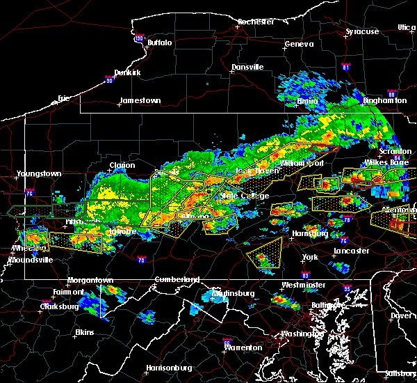 Radar Image for Severe Thunderstorms near Longfellow, PA at 5/29/2019 3:22 PM EDT