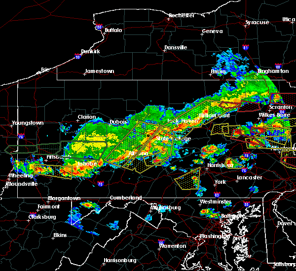 Radar Image for Severe Thunderstorms near Longfellow, PA at 5/29/2019 3:33 PM EDT