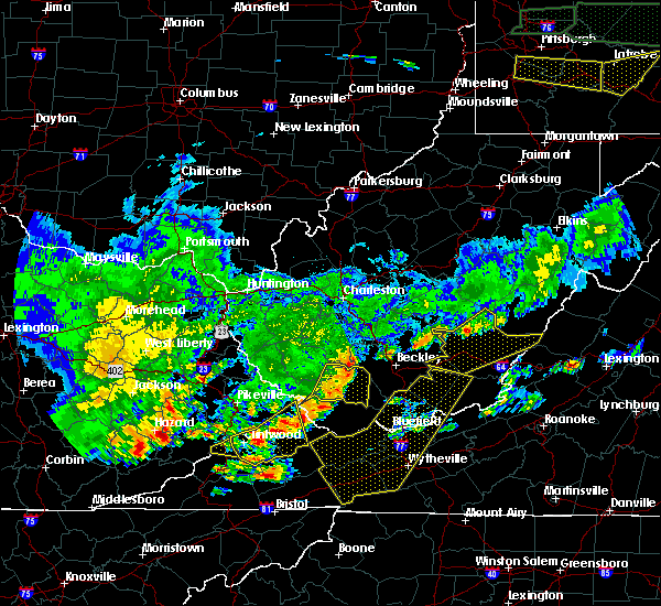 Radar Image for Severe Thunderstorms near Justice, WV at 5/29/2019 3:37 PM EDT