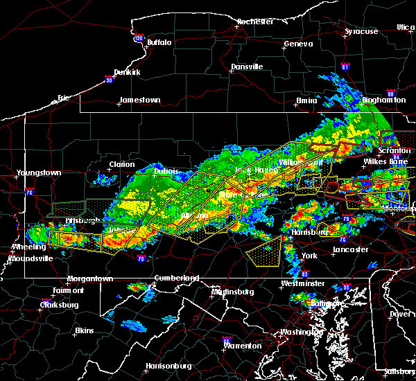 Radar Image for Severe Thunderstorms near Woodward, PA at 5/29/2019 3:46 PM EDT