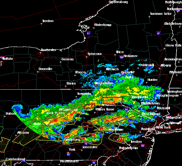 Radar Image for Severe Thunderstorms near Carbondale, PA at 5/29/2019 3:58 PM EDT