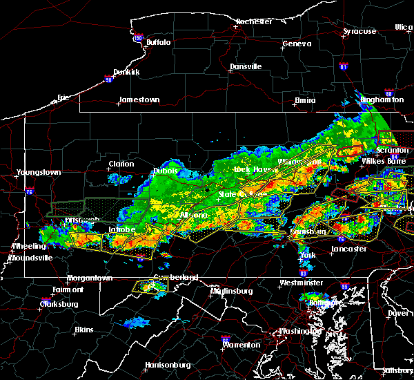 Radar Image for Severe Thunderstorms near Longfellow, PA at 5/29/2019 4:00 PM EDT