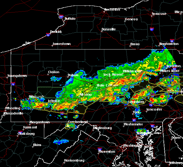 Radar Image for Severe Thunderstorms near Pleasantville, PA at 5/29/2019 4:09 PM EDT