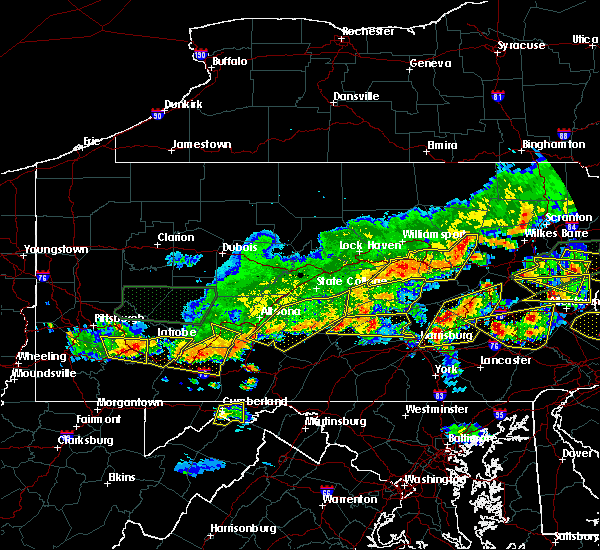 Radar Image for Severe Thunderstorms near Hometown, PA at 5/29/2019 4:10 PM EDT