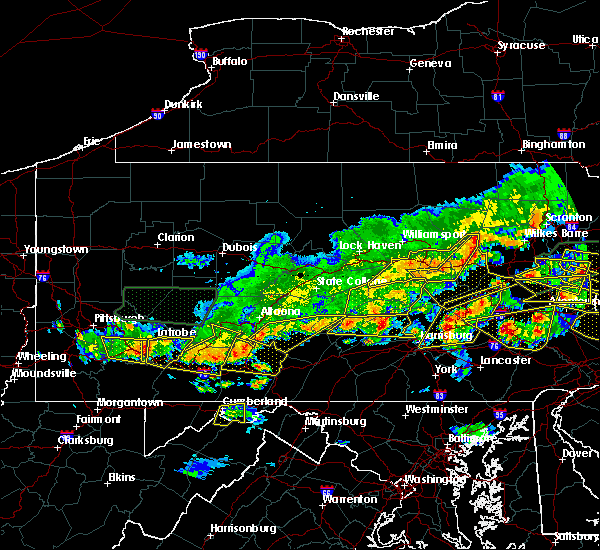 Radar Image for Severe Thunderstorms near Longfellow, PA at 5/29/2019 4:15 PM EDT