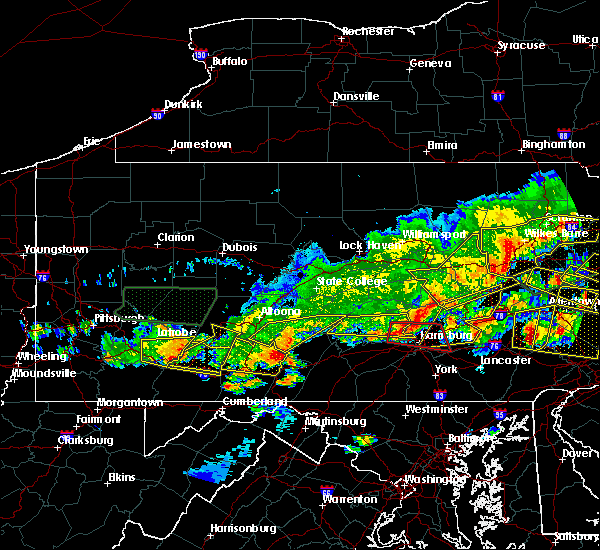 Radar Image for Severe Thunderstorms near Hometown, PA at 5/29/2019 4:32 PM EDT