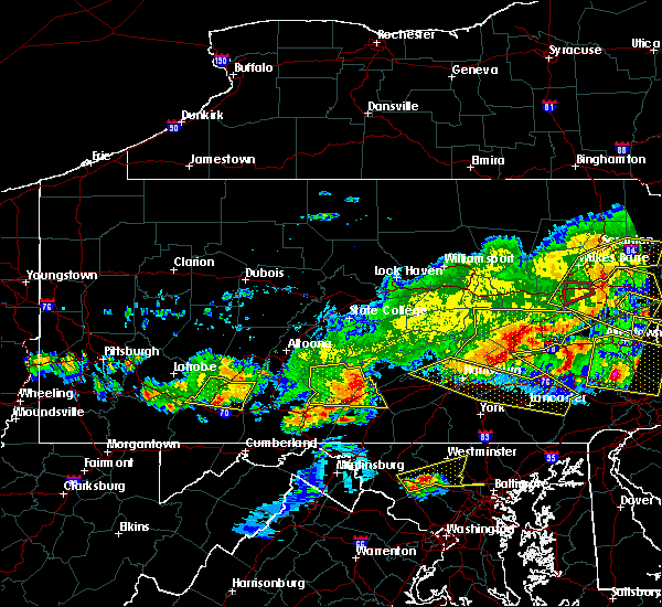 Radar Image for Severe Thunderstorms near Hometown, PA at 5/29/2019 4:51 PM EDT