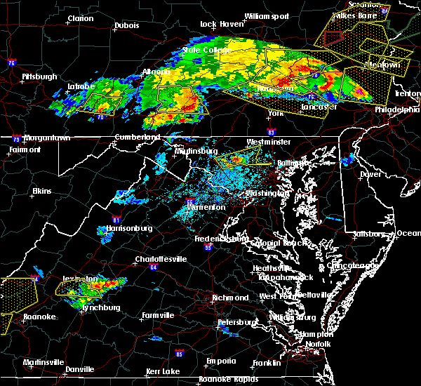 Radar Image for Severe Thunderstorms near Walkersville, MD at 5/29/2019 4:53 PM EDT