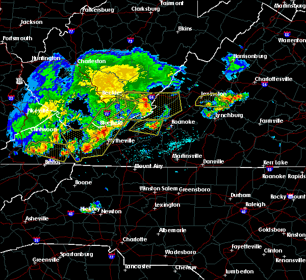 Radar Image for Severe Thunderstorms near Hiwassee, VA at 5/29/2019 4:58 PM EDT