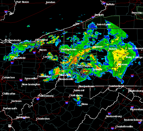 Radar Image for Severe Thunderstorms near Bradford Woods, PA at 6/14/2015 9:32 PM EDT