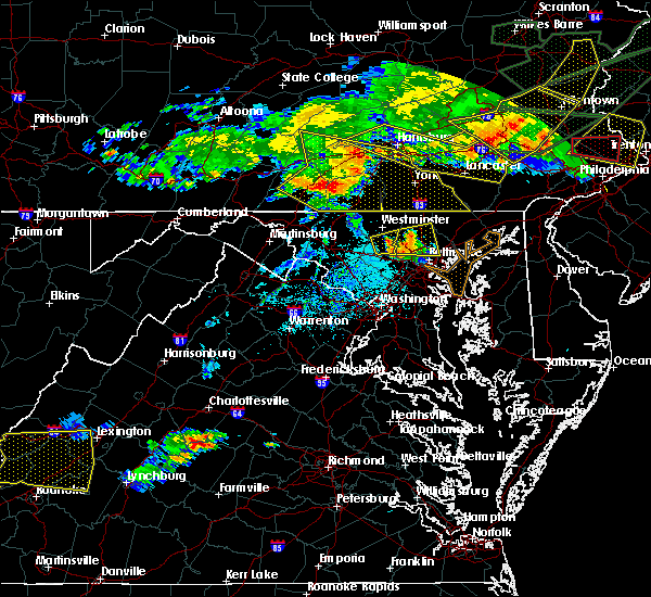 Radar Image for Severe Thunderstorms near Sykesville, MD at 5/29/2019 5:24 PM EDT