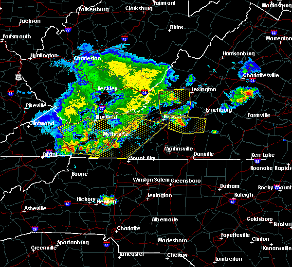 Radar Image for Severe Thunderstorms near Hiwassee, VA at 5/29/2019 5:38 PM EDT