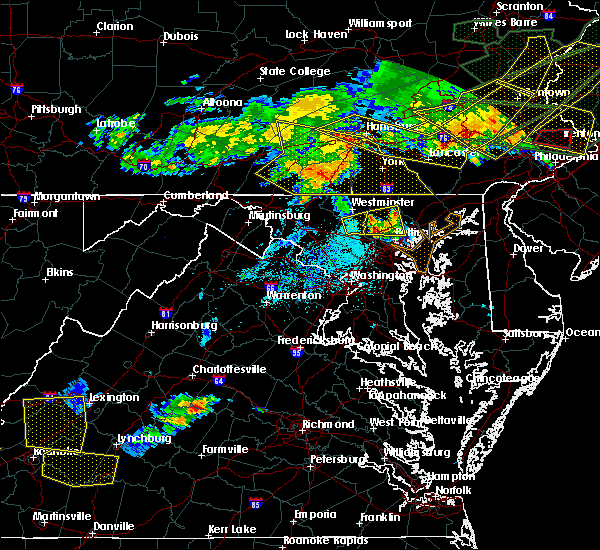 Radar Image for Severe Thunderstorms near Fivepointville, PA at 5/29/2019 5:42 PM EDT