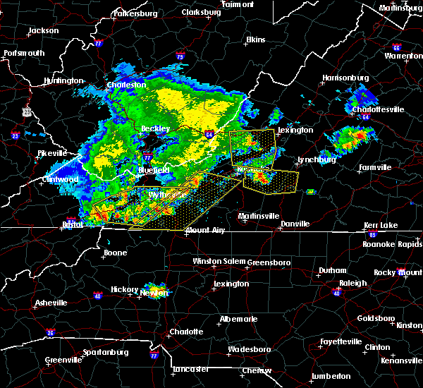 Radar Image for Severe Thunderstorms near Hiwassee, VA at 5/29/2019 5:44 PM EDT