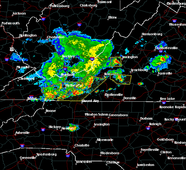 Radar Image for Severe Thunderstorms near Timberlake, VA at 5/29/2019 5:51 PM EDT