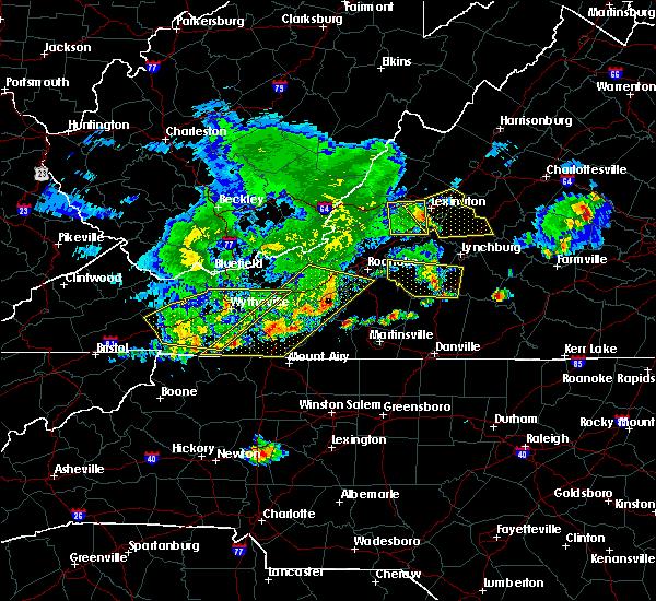 Radar Image for Severe Thunderstorms near East Lexington, VA at 5/29/2019 5:58 PM EDT