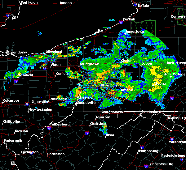 Radar Image for Severe Thunderstorms near Youngstown, PA at 6/14/2015 9:45 PM EDT
