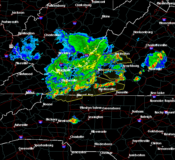 Radar Image for Severe Thunderstorms near Timberlake, VA at 5/29/2019 6:14 PM EDT