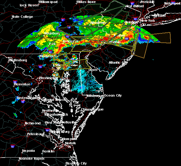 Radar Image for Severe Thunderstorms near Claymont, DE at 5/29/2019 6:25 PM EDT
