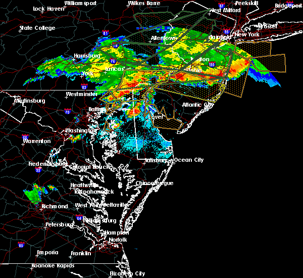 Radar Image for Severe Thunderstorms near Aberdeen, MD at 5/29/2019 6:54 PM EDT