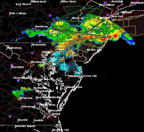 Radar Image for Severe Thunderstorms near Bear, DE at 5/29/2019 7:12 PM EDT
