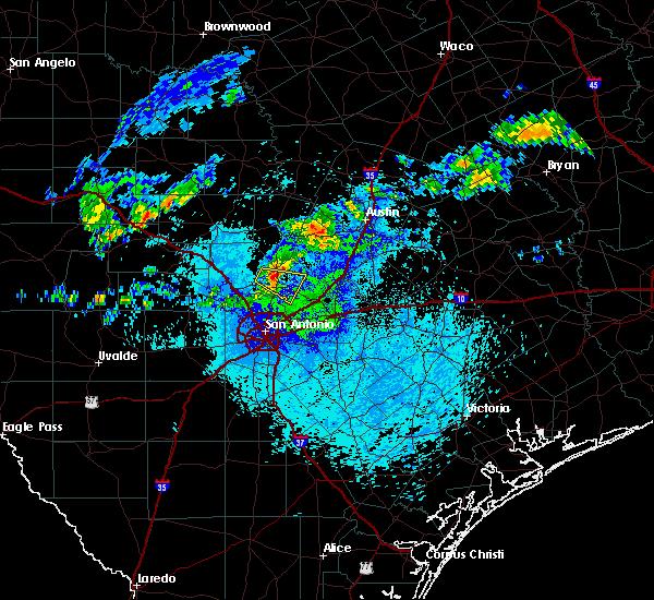 Radar Image for Severe Thunderstorms near Bulverde, TX at 5/30/2019 2:44 AM CDT