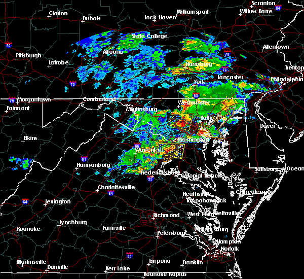 Radar Image for Severe Thunderstorms near Fort Meade, MD at 5/30/2019 3:36 PM EDT