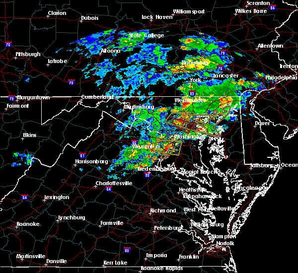 Radar Image for Severe Thunderstorms near Newington, VA at 5/30/2019 3:38 PM EDT